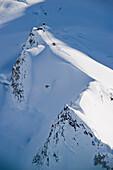 Aerial View Of The Don Sheldon Mountain House, Ruth Glacier Amphitheater, Alaska Range, Denali National Park And Preserve, Interior Alaska, Spring