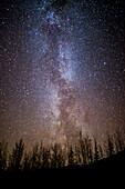 View Of The Milky Way On A Dark Night Near Wiseman, Arctic Alaska