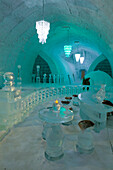 Lobby Of The Aurora Ice Hotel Chena Hot Springs Ak In Wi
