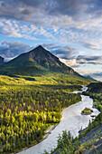 King Mountain, Matanuska River, Matanuska Valley along the Glenn Highway, Southcentral Alaska.