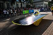 'Solar car preparing to depart; Darwin, Australia'