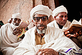 'Pilgrims at the Orthodox Easter celebrations; Lalibela, Ethiopia'