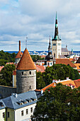 'View of Tallinn Old Town in Estonia; Tallinn, Estonia'