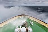 'Polar Star navigates the rough waters of the Drake passage; Antarctica'
