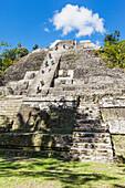 'Ancient Mayan ruins in Lamanai; Belize'
