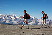 'Summer hiking at Col des Gentianes in the Swiss Alps; Valais district, Switzerland'