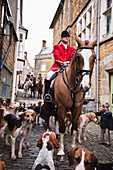 'The Traditional Boxing Day Hunt in the centre of Castle Cary; Somerset, England'