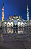 'Islamic mosque at nighttime; Istabul, Turkey'