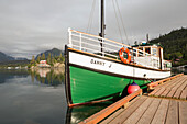Kachemak Bay Ferry vessel, the Danny J, at Halibut Cove, Southcentral Alaska