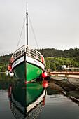 Kachemak Bay Ferry vessel, the Danny J, at Halibut Cove, Southcentral Alaska