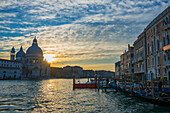 'Sunset viewed from the Grand Canal; Venice, Veneto, Italy'