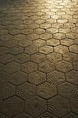 'Decorative design on the blocks of a path; Barcelona, Spain'