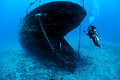 Hawaii, Maui, The Carthaginian, a landmark ship that was sunk as an artaficial reef off Lahaina.