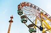 'Amusement rides at Capital Ex Fairgrounds; Edmonton, Alberta, Canada'