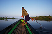 'Leg rower fisherman on Inle Lake; Myanmar'