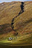 'Cottage on the Isle of Mull; Hebrides, Western Isles, Scotland'