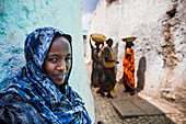 'Portrait of a young woman; Harar, Ethiopia'