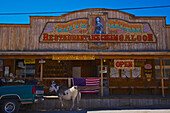 'Tourist town street scene; Oatman, Arizona, United States of America'