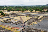 'View of the pyramid grounds at Teotihuacan; San Juan Teotihuacan, State of Mexico, Mexico'