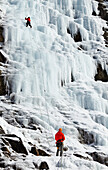 'Ice climbing, Lake Willoughby; Vermont, United States of America'