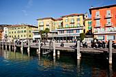 'The harbour of Lake Garda; Malcesine, Verona, Italy'