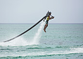 'Jet pack over the Caribbean; Grand Cayman, Cayman Islands'