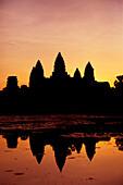 'Sunrise at Angkor Wat; Siem Reap, Siem Reap Province, Cambodia'
