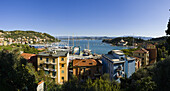 'Residential buildings along the Italian Riviera; Le Grazie, Liguria, Italy'