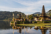 Pura Ulun Danu Bratan temple on the shores of Lake Bratan, Bedugul, Bali, Indonesia
