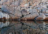 Rocky reflection in the Bear Lakes area of the High Sierra