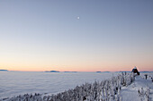 Sunrise above an inversion in Whitefish, Montana.