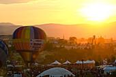 Dawn patrol at the Great Reno Balloon Races in Reno, Nevada.
