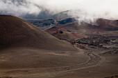 Old lava flow in Haleakala crater.