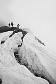 Group of ski alpinist climbing in The Gran Sasso and Monti della Laga National Park.