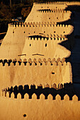 'Western walls at sunset, Ichan Kala Old City, Khiva, Kizilkum desert; Khwarezm region, Uzbekistan'