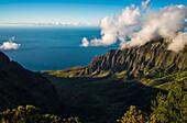 'View from Puu O Kila Overlook, Na Pali Coast; Kauai, Hawaii, United States of America'
