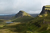 'Mountain range The Quiraing, Isle of Skye; Hebrides, Scotland'