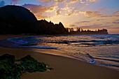 'Sunrise at Tunnels Beach; Kauai, Hawaii, United States of America'