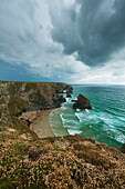 'Bedruthan Steps; Cornwall, England'
