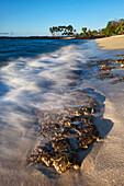 'Mahaiula Beach and surf, Kona Coast; Kona, Big Island, Hawaii, United States of America'