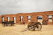 'Old wagons at Fort Union National Monument,; New Mexico, United States of America'