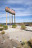 'A sign of nothing on an Arizona highway heading towards Las Vegas from Phoenix; Phoenix, Arizona, United States of America'