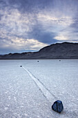 'Rocks and dried lake bed at the Racetrack in Death Valley National Park; California, United States of America'