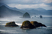 'Spectacular coastal scenery is found at Ecola State Park; Cannon Beach, Oregon, United States of America'