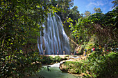 El Limon Waterfall, Eastern Peninsula de Samana, Dominican Republic, West Indies, Caribbean, Central America