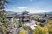 Mu Residence (Mufu) with courtyard in Lijiang Old Town, UNESCO World Heritage Site, Lijiang, Yunnan province, China, Asia