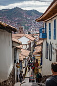 Street scene in San Blas neighbourhood, Cuzco, UNESCO World Heritage Site, Peru, South America