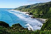 The untouched west coast of South Island between Greymouth and Westport, West Coast, South Island, New Zealand, Pacific
