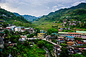 View over the town of Banaue, Northern Luzon, Philippines, Southeast Asia, Asia