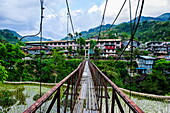 Huge hanging bridge in Banaue, Northern Luzon, Philippines, Southeast Asia, Asia
